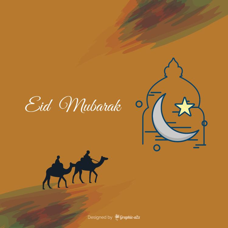 EID Mubarak Card Design, EID Card Vector design