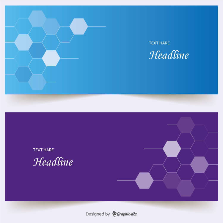 Flat banner on Graphic a2z