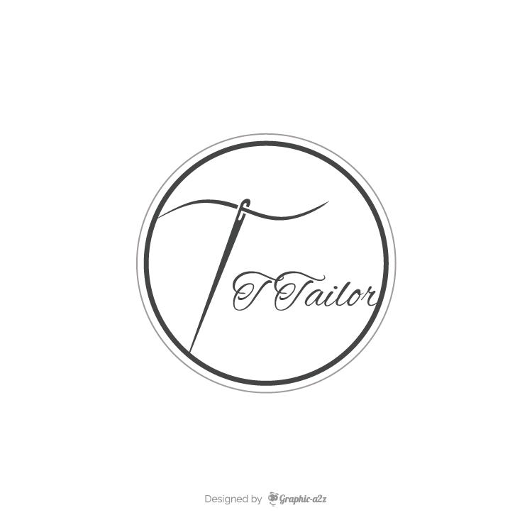 Creative vector letter T logo for tailor